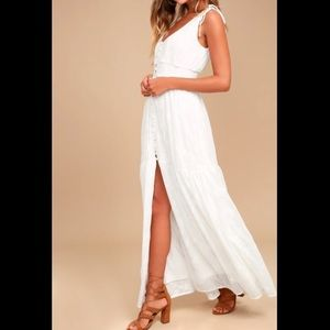 Lulus White Time Well Spent Embroidered Maxi Dress